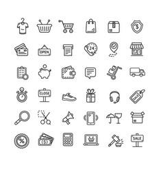 ecommerce icon black thin line set vector image vector image