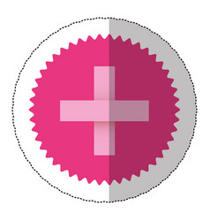 Emblem blessed cross cancer defense icon vector