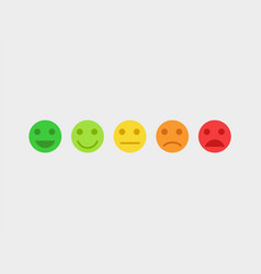 feedback concept emoji faces vector image