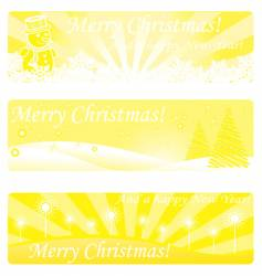 gold Christmas banners vector image vector image