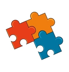 Isolated pieces of puzzle design vector image vector image