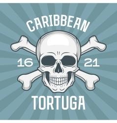 Pirate insignia concept Caribbean tortuga island vector image vector image