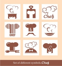 Set of different symbols Chef vector image vector image