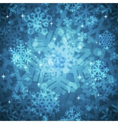Shiny Blue Snowflakes Seamless Pattern for vector image vector image