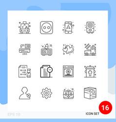 16 universal outline signs symbols room vector