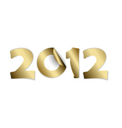 2012 made from golden stickers vector image