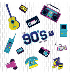 90s retro concept vector