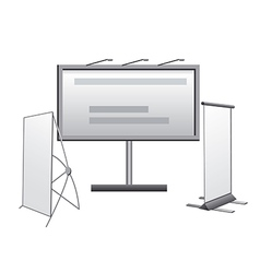advertising media icons vector image