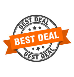 best deal label sign round stamp band ribbon vector image