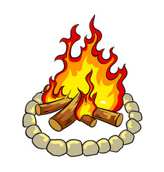 Bonfire pop art vector