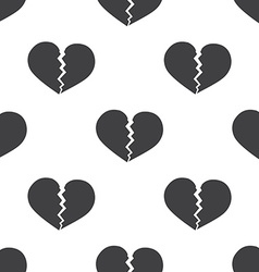 Broken heart seamless pattern vector