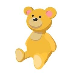 Brown bear cartoon icon vector