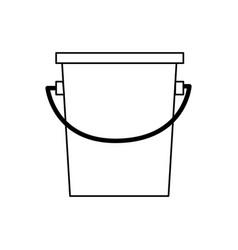 bucket fishing equipment object outline vector image