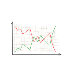 business chart finance graph on blank background vector image