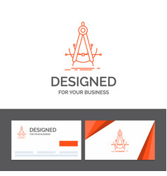 Business logo template for precision accure vector