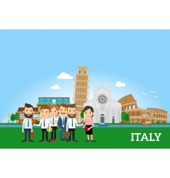 Business people in Italy vector image
