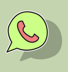 Button icon backgroundwhatsapp logo design whats vector