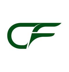 Cf c f creative modern black letters logo design vector