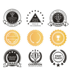 Champion awards collection vector