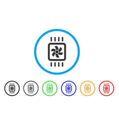 Chip cooling rounded icon vector