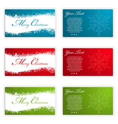 collect christmas cards with snowflakes and wave p vector image