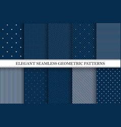 collection elegant patterns - seamless vector image
