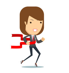 concept of successful businesswoman in a finishing vector image