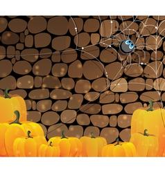 Dark dungeon halloween background vector