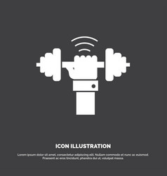 Dumbbell gain lifting power sport icon glyph vector