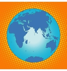 Earth Eurasia Africa Australia Antarctica Asia vector