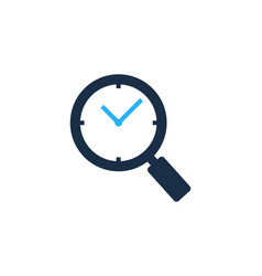 find time logo icon design vector image