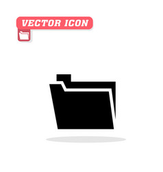 folder icon white background image vector image
