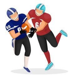 footballers play in american football on stadium vector image