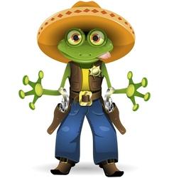 Frog sheriff vector