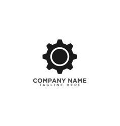 Gear machine logo design template vector
