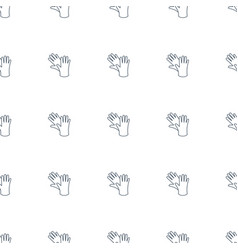 gloves icon pattern seamless white background vector image