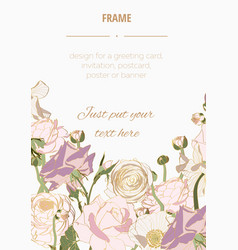 hand drawn summer vintage golden bouquet vector image