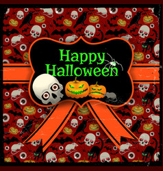 Happy halloween red seamless background vector