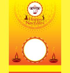 happy navratri festival poster design vector image