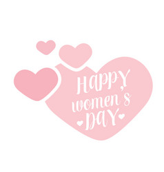 happy womens day pink hearts background im vector image