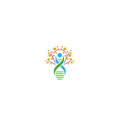 health dna people sign logo vector image