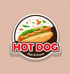 hot dog hot fresh design vector image