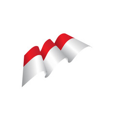 indonesia flag vector image