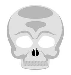 isolated halloween skull mask vector image
