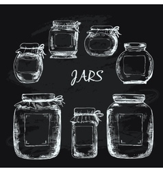 Jars with label vector image