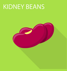 kidney beans icon flat style vector image