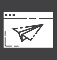 Landing page glyph icon seo and development vector