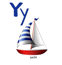 Letter Y for yacht vector image