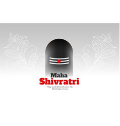 Lord shiva shivling design for maha shivratri vector