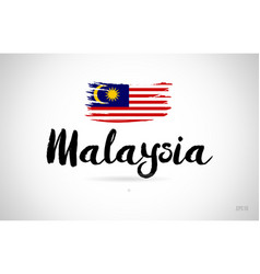 Malaysia country flag concept with grunge design vector